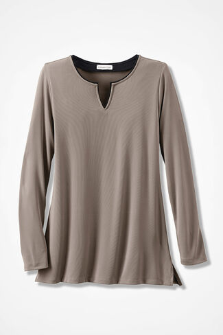 Destinations II Piped Tunic, Mocha, large