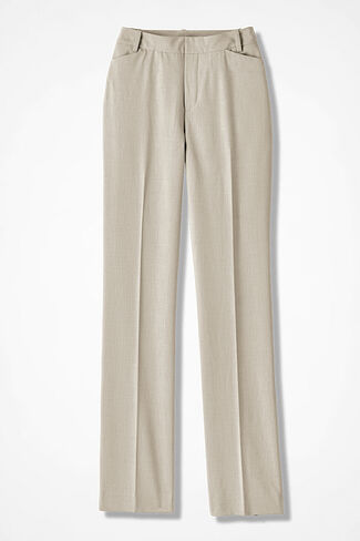 The Curvy ShapeMe® Studio Pant®, Sand Khaki, large