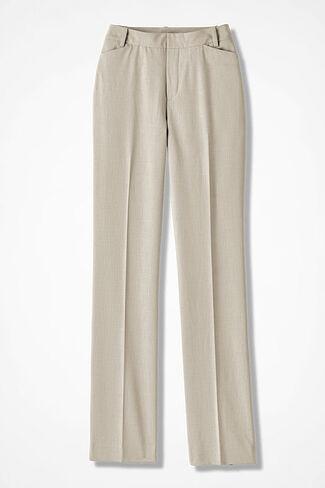 The Curvy ShapeMe® Studio Pant®, Sand Khaki, large