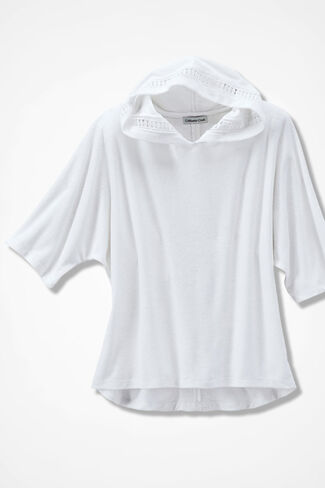 Time for Terry Pullover, White, large