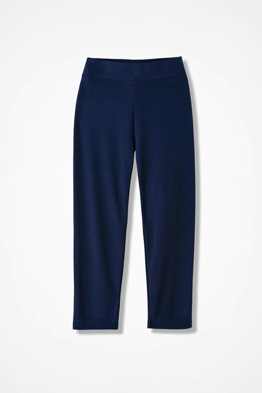 Essential Supima® Cropped Leggings, Navy, large