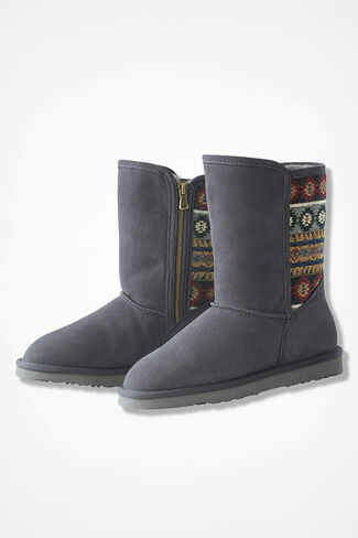 """Tacoma"" Suede Boots by Walk With Me™, Grey, large"