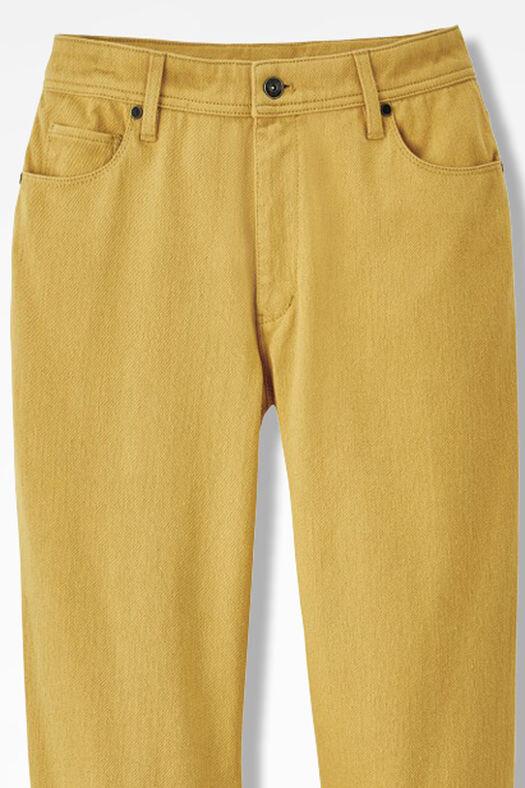 Knit Denim Straight-Leg Jeans, Amber, large