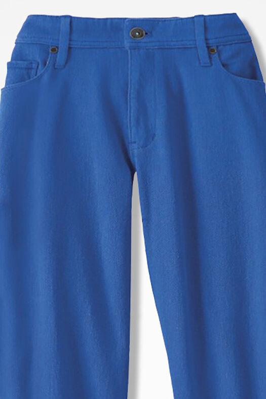 Knit Denim Cropped Jeans, Cobalt, large