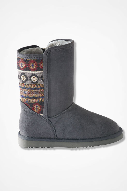 """""""Tacoma"""" Suede Boots by Walk With Me™, Grey, large"""
