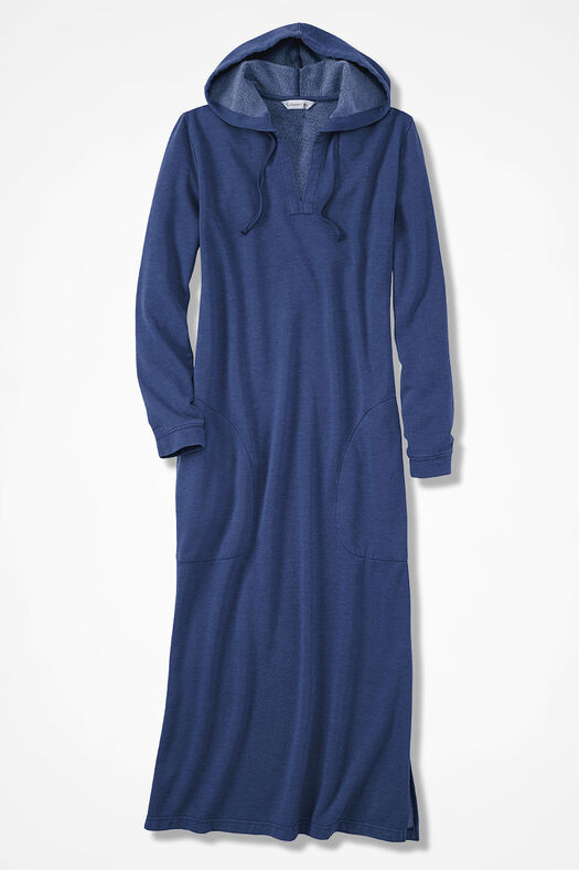 Hooded Fleece Lounger, India Ink, large