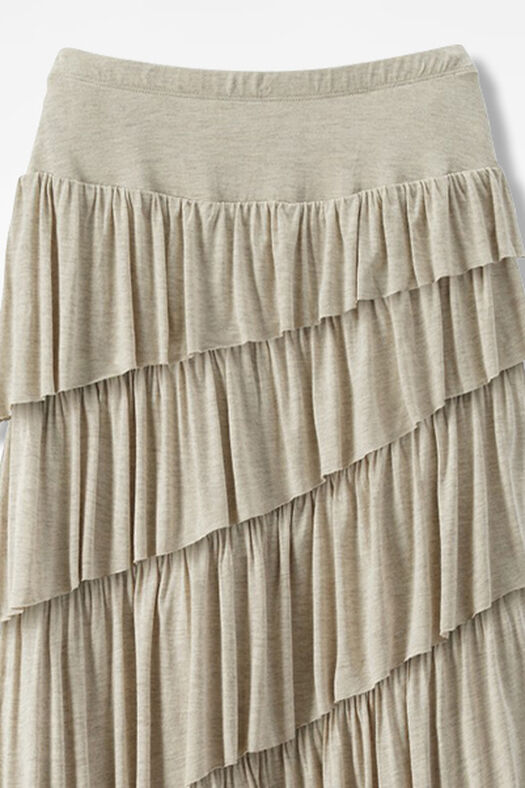 New Angle Maxi Skirt, Heather Oatmeal, large