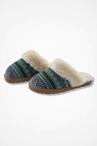 """Panorama"" Slippers by Walk With Me™, Blue/Green, large"