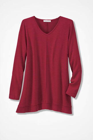 Dream-Soft Plush Tunic, Dover Red, large