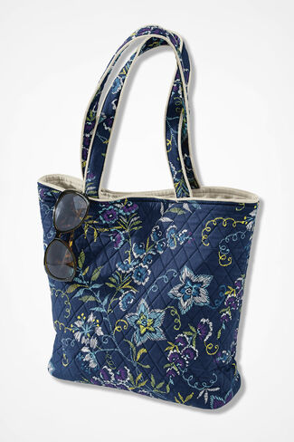 Bloom-n-Go Quilted Tote, Multi, large