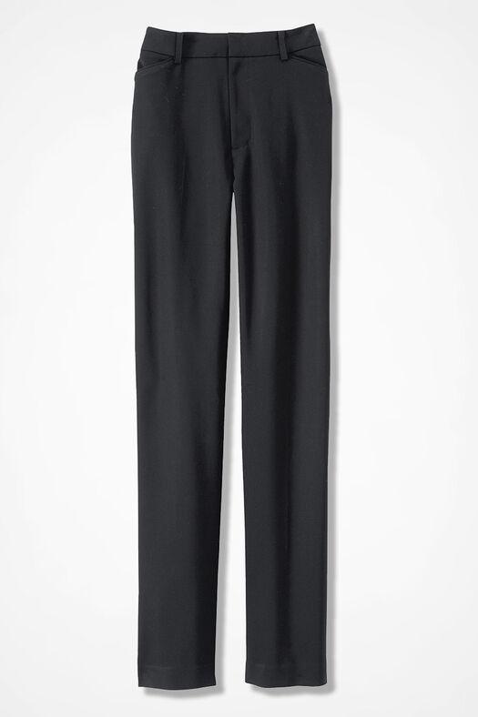 Modern Microfiber Pants, Black, large