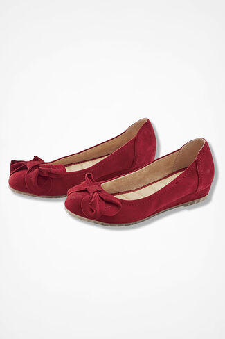 """Martina"" Suede Mini-Wedges by Me Too®, Dover Red, large"