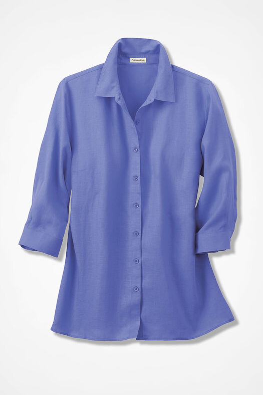 Linen Big Shirt, Perfect Peri, large