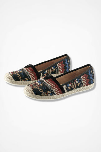 """Sheridan"" Espadrilles by Comfortiva®, Black Multi, large"