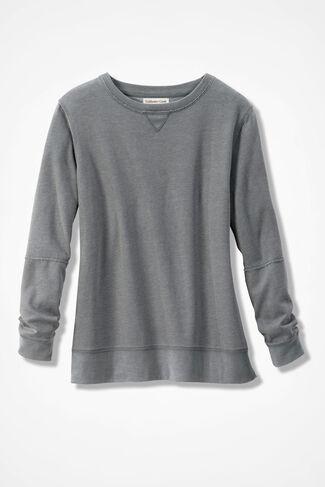 Colorwashed Fleece Pullover, Grey Dusk, large