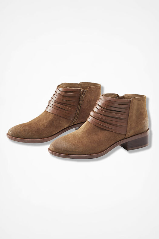 """""""Corliss"""" Suede Boots by Comfortiva®, Brown, large"""