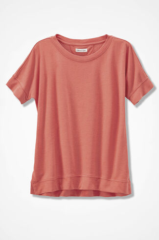 French Terry Pullover, Papaya, large
