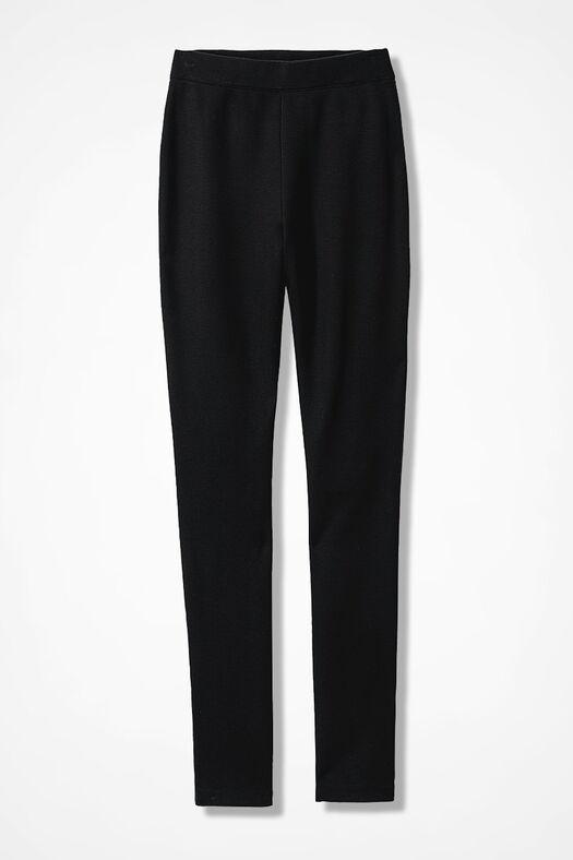 Ponte Perfect® Slim-Leg Leggings, Black, large