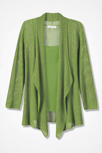 Palazzo Breeze Cardigan, Mountain Green, large
