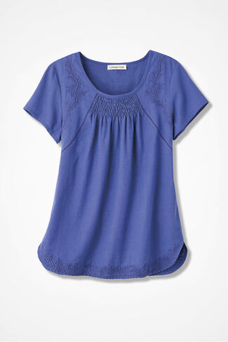Sonata Embroidered Blouse, Violet, large