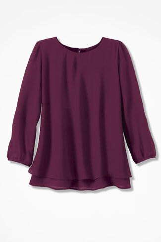 Graceful Layers Blouse, Wine, large