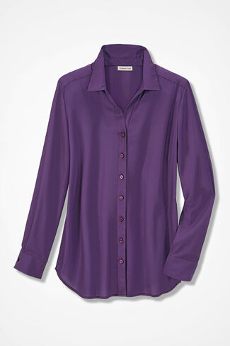 Solid Ambiance Blouse, Boysenberry, large