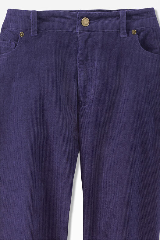 Pinwale Stretch Corduroys, Deep Violet, large