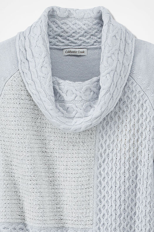Stitchwork Potpourri Tunic Sweater, Light Heather Grey, large