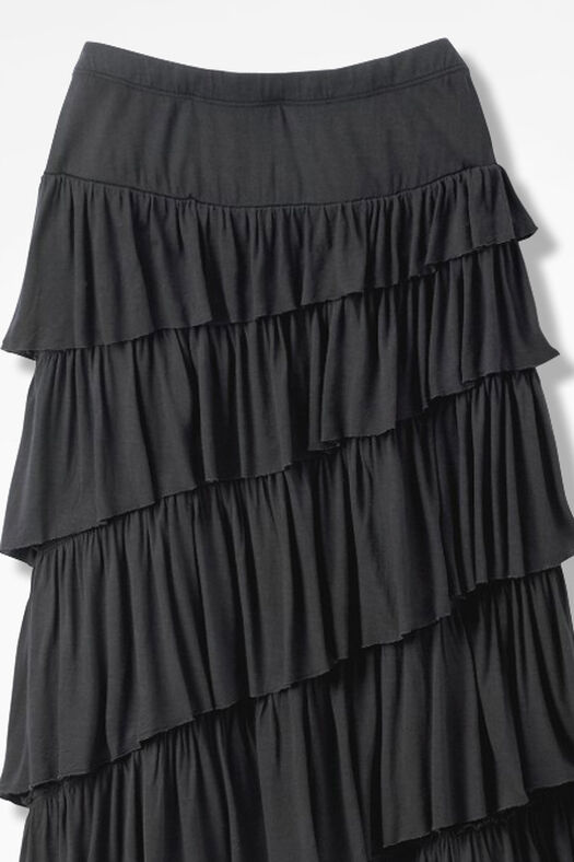 New Angle Maxi Skirt, Black, large