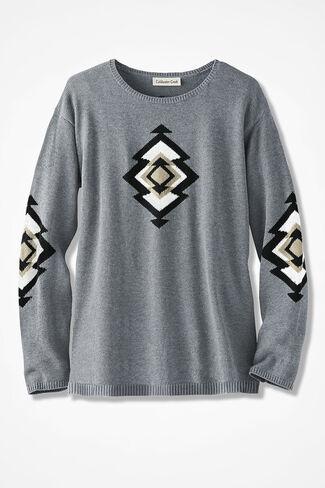 Spirit Valley Sweater, Light Heather Grey, large