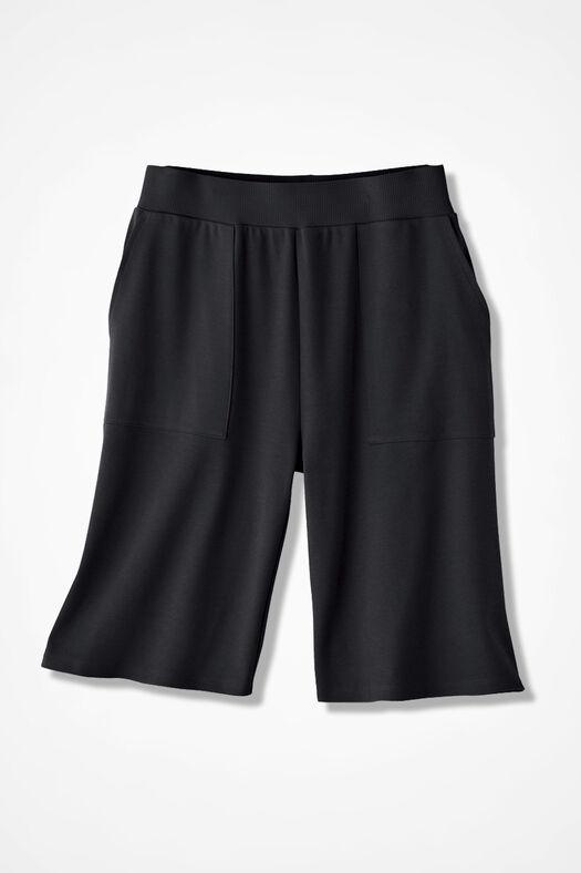 Essential Supima® Shorts, Black, large