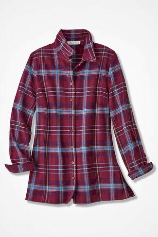 Northcountry Flannel Shirt, Garnet, large