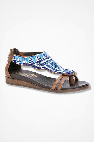 """Antillas"" Leather Sandals by Pikolinos®, Blue, large"