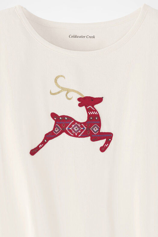 Rudolph's Delight Spirit Tee, Ivory, large