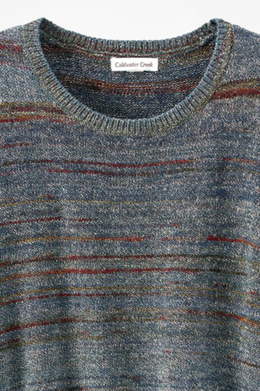 Mixed Tones Sweater, Blue Multi, large