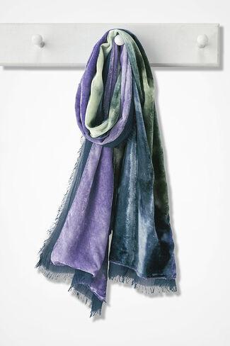 Velvet Aurora Scarf, Blue Multi, large
