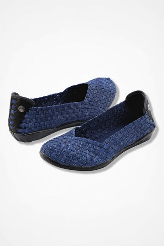 """Catwalk"" Slip-Ons by Bernie Mev®, Denim, large"