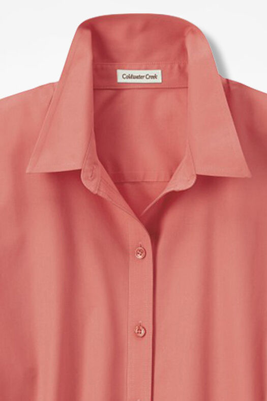 Three-Quarter Sleeve Easy Care Shirt, Coral Rose, large