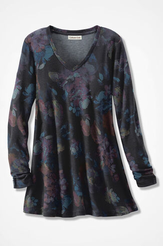 Artisan Print Swing Tunic, Black Multi, large