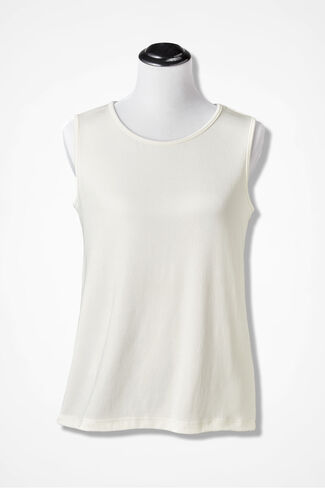 Destinations Solid Tank, Ivory, large