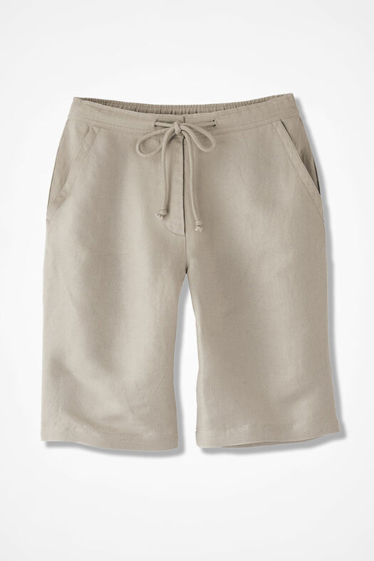 Solstice Linen Shorts, Flax, large
