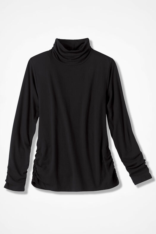 PrimaKnit® Turtleneck, Black, large