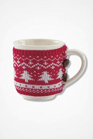 Snuggle Mug, Red Multi, large