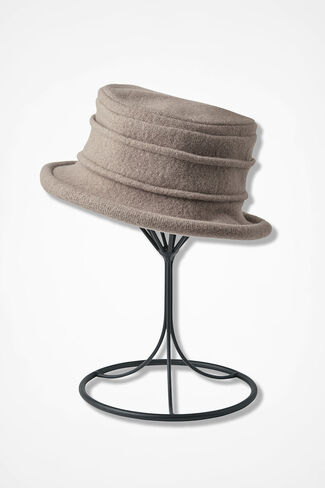 Felted Cloche, Taupe, large