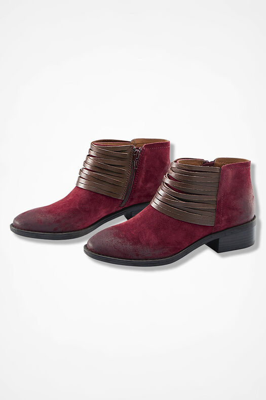 """""""Corliss"""" Suede Boots by Comfortiva®, Wine, large"""