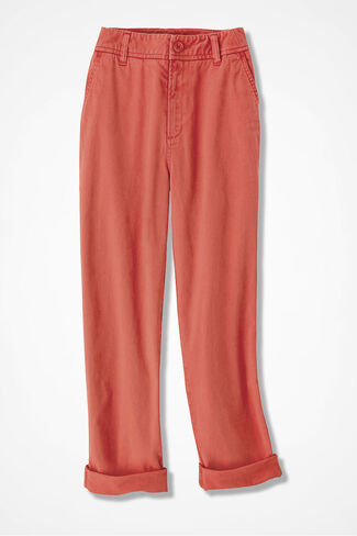 Everyday Chino Crops, Coral Rose, large
