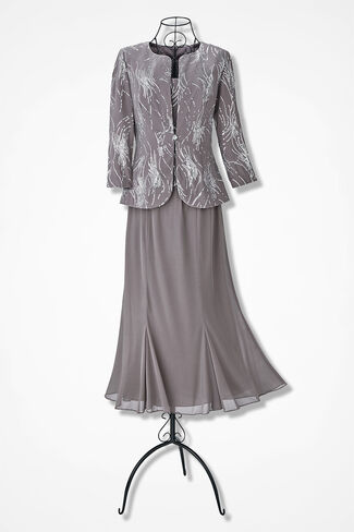 Fireworks Dress by Alex Evenings, Champagne, large