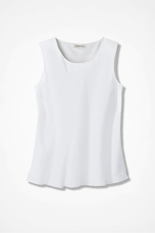 Do-It- All Sleeveless Shell, White, large