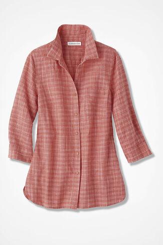 NEW Sketchbook Linen Shirt, Coral Rose, large