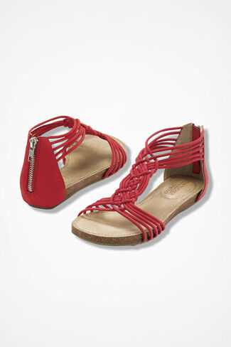 """Nyla"" Sandals from Adam Tucker by Me Too™, Scarlet, large"